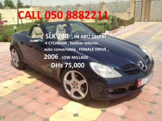 SLK 280   , IN ABU DHABI            4 CYLINDER , leather interior ,