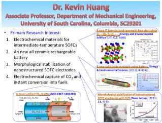 Primary Research Interest: Electrochemical materials for intermediate-temperature SOFCs