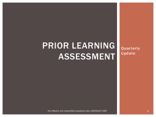 Prior Learning Assessment