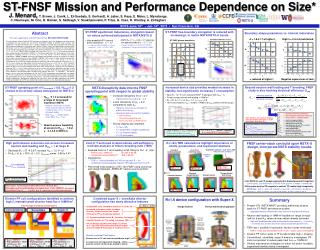 ST-FNSF Mission and Performance Dependence on Size*