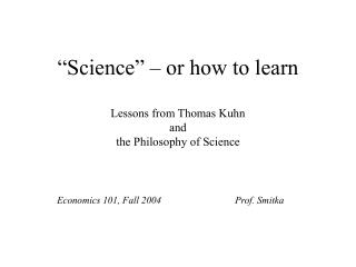 Science    or how to learn