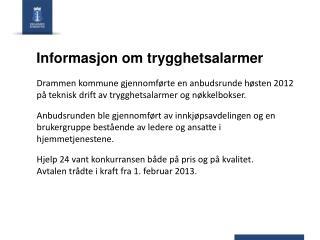 Informasjon om trygghetsalarmer