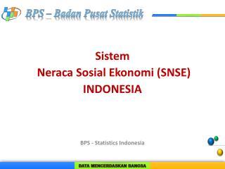 Sistem Neraca Sosial Ekonomi  (SNSE ) INDONESIA