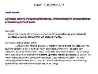 Posvet – 4. december 2012