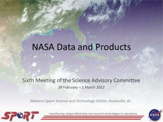NASA Data and Products