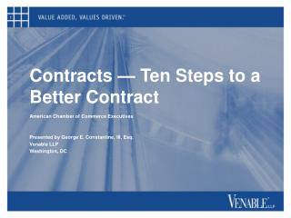 Contracts   Ten Steps to a Better Contract