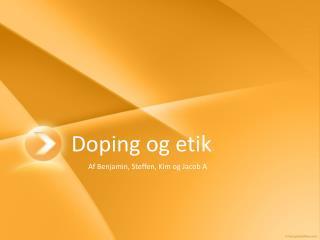 Doping  og etik