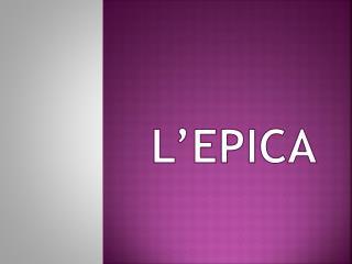 L'EPICA