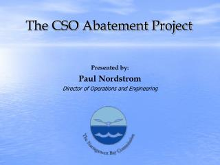 The CSO Abatement Project