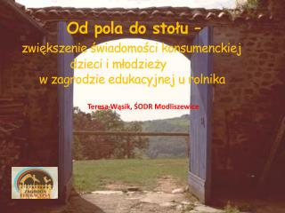 Teresa Wąsik, ŚODR Modliszewice