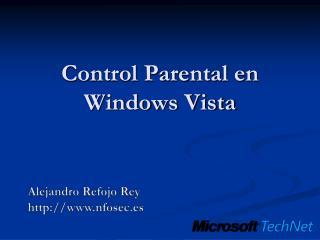 Control Parental en Windows Vista