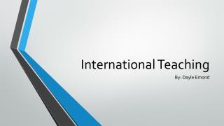 International Teaching