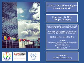 LGBT / SOGI Human Rights Around the World