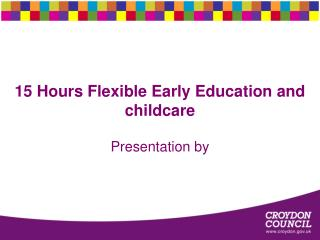 15 Hours Flexible Early Education and childcare