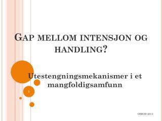 Gap mellom intensjon og handling?