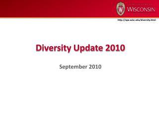 Diversity Update 2010 September 2010