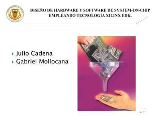 DISEÑO DE HARDWARE Y SOFTWARE DE  SYSTEM-ON-CHIP  EMPLEANDO TECNOLOGIA XILINX EDK.