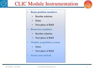 CLIC  Module Instrumentation