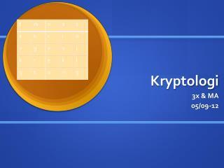Kryptologi
