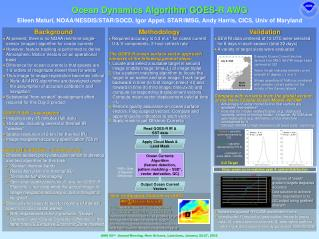 Ocean Dynamics Algorithm GOES-R AWG