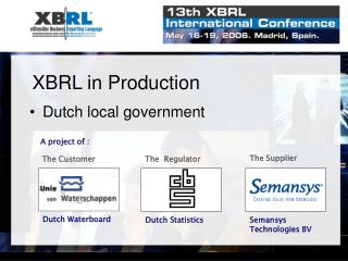 XBRL in Production