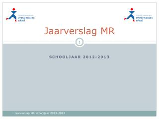 Jaarverslag MR