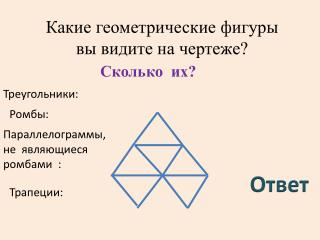 Какие геометрические фигуры  вы видите на чертеже?