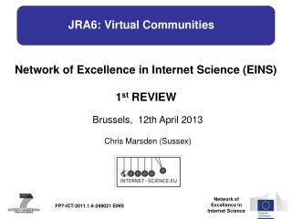 JRA6: Virtual Communities