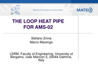 THE LOOP HEAT PIPE FOR AMS-02