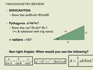 Trigonometry:  Review