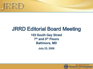 JRRD Editorial Board Meeting
