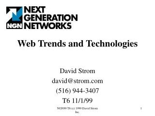 Web Trends and Technologies