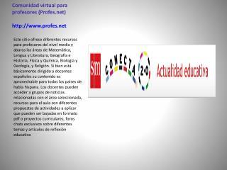 Comunidad virtual para profesores (Profes) profes