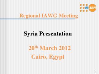 Regional IAWG Meeting