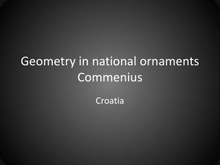 Geometry in national ornaments Commenius