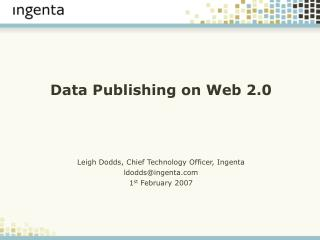 Data Publishing on Web 2.0