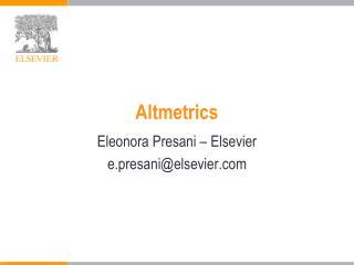 Altmetrics