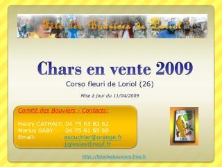 Chars en vente 2009