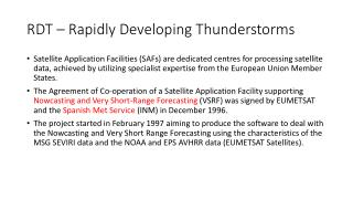 RDT – Rapidly Developing Thunderstorms