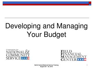Developing and Managing Your Budget