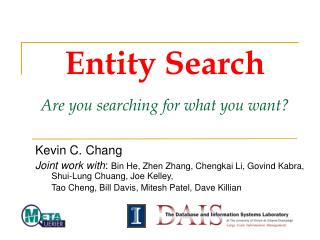Entity Search Are you searching for what you want?