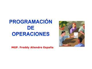 MGP. Freddy Aliendre España