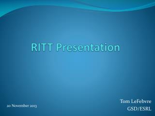 RITT Presentation