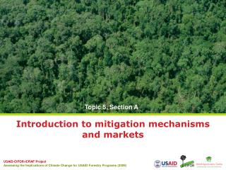 Introduction to mitigation mechanisms and markets