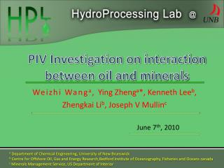 PIV Investigation on interaction between oil and minerals
