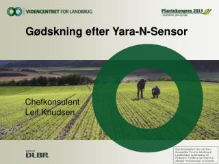 G�dskning efter Yara-N-Sensor