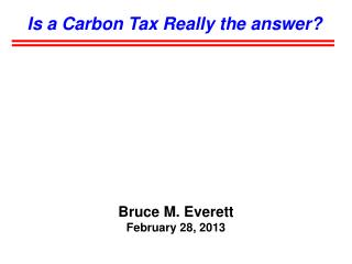Is a Carbon Tax Really the answer?
