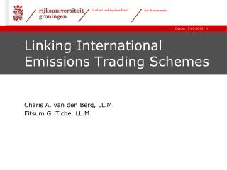 Linking International Emissions Trading Schemes