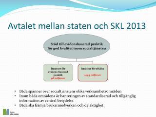 Avtalet mellan staten och SKL 2013