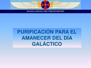 PURIFICACIÓN PARA EL AMANECER DEL DÍA GALÁCTICO